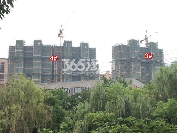 九龙仓碧玺高层3#、4#楼实景图(2018.6 摄)