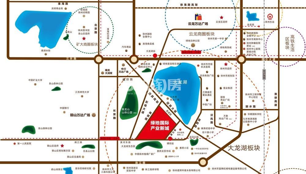 绿地国际产业新城莫兰迪公馆交通图