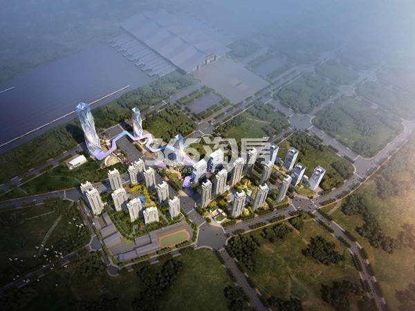 国际旅游港中央首府鸟瞰图