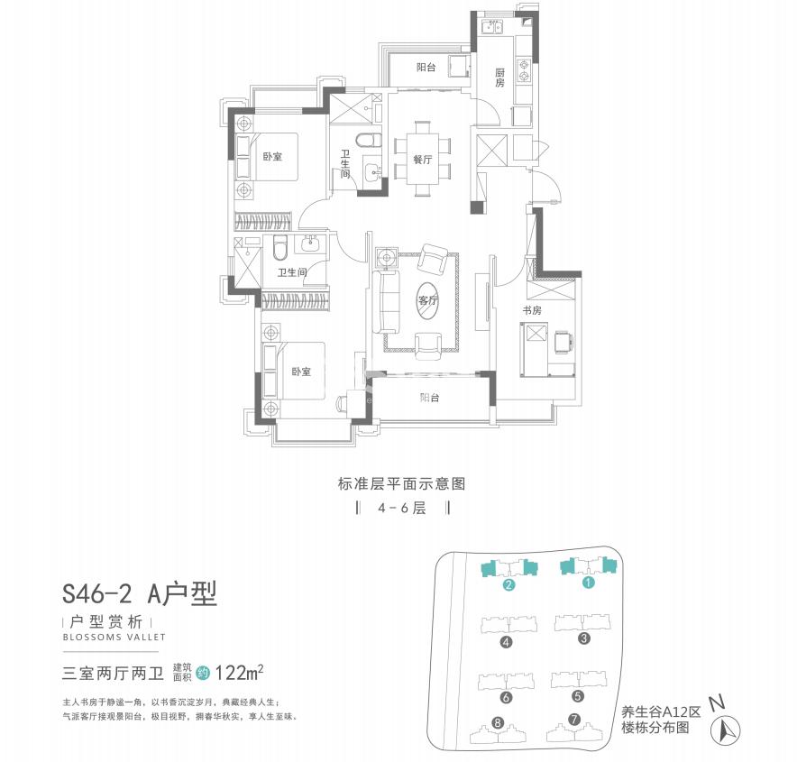 南京恒大养生谷122㎡A户型(S46-2)
