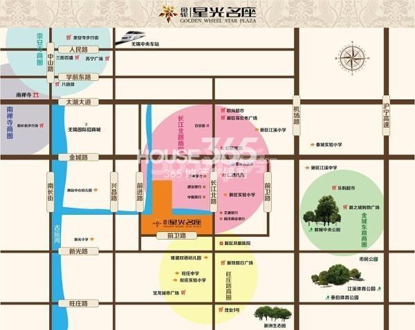 金轮星光名座生活广场交通图
