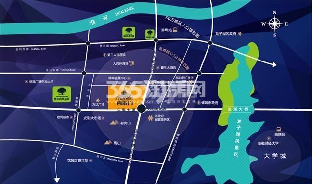 百乐门文化经贸广场交通图