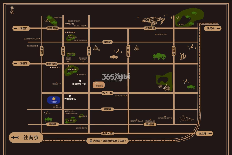 万科金域蓝湾(镇江)交通图