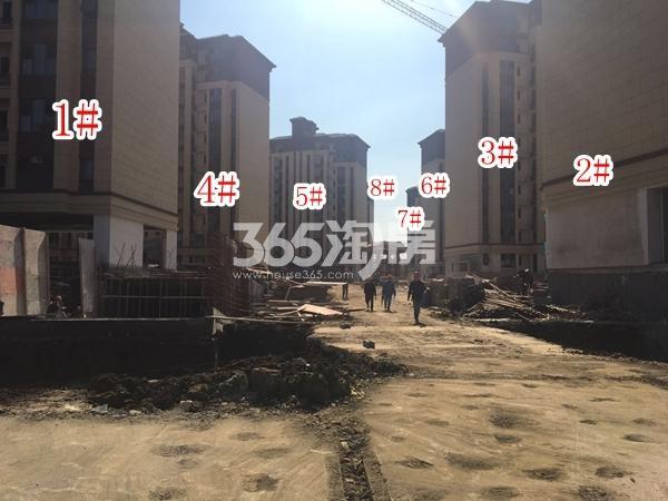 中隆广场・润��府小高层工程进度实景图(2017.12 摄)