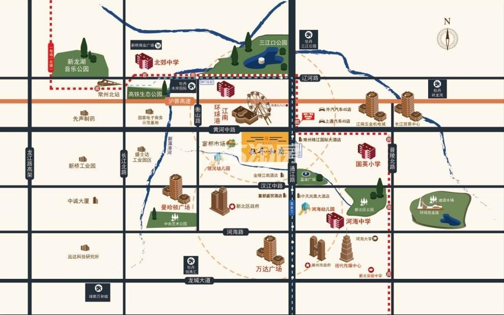 牡丹和府交通图