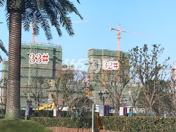 恒大观澜府高层32#、33#楼实景图(2017.12 摄)