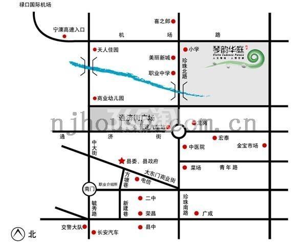 琴韵华庭交通图