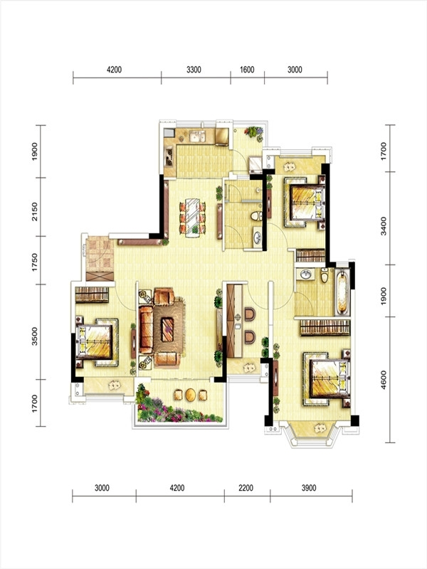 龙湖三千庭洋房户型图