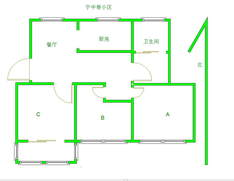 江宁区百家湖高尔夫国际花园3室1厅户型图
