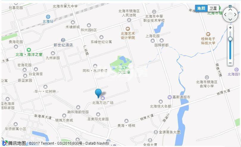 碧桂园北海印象交通图