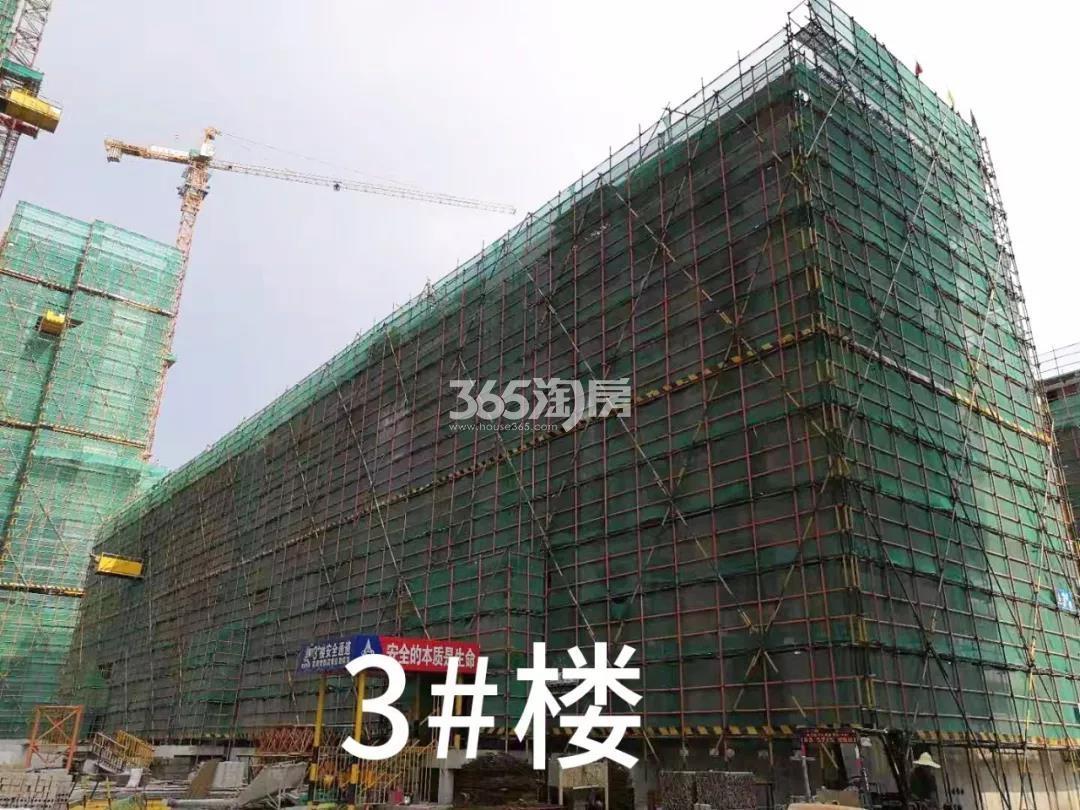绿都云和湖项目3号楼施工进程(2019.8)