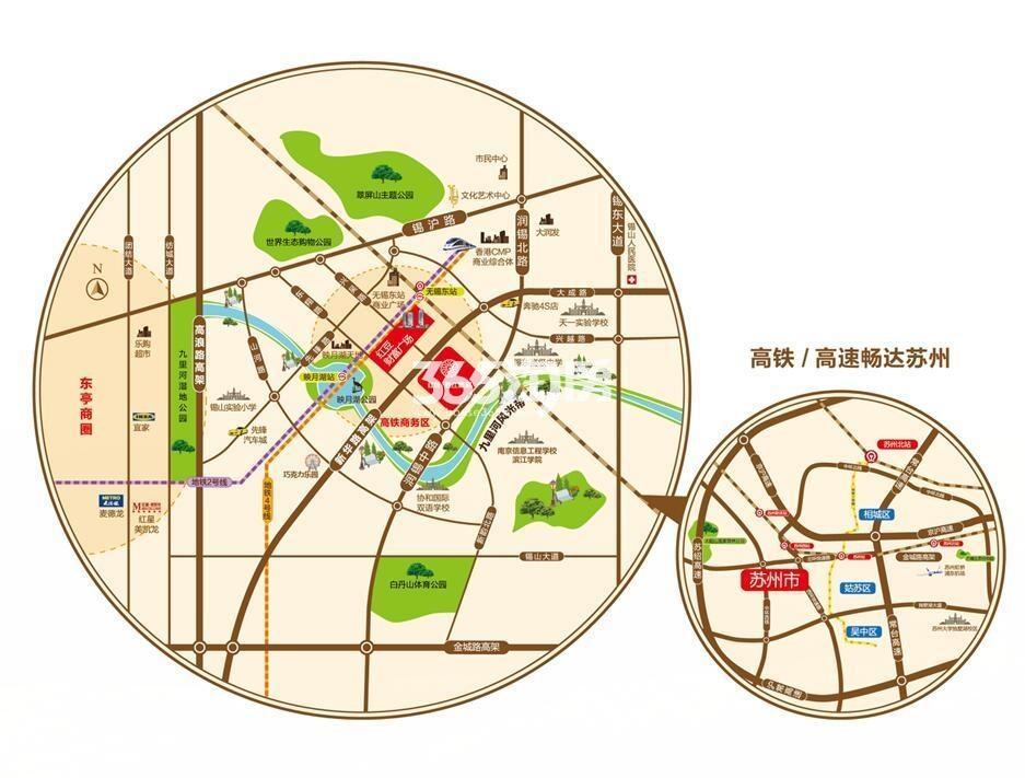 红豆香江豪庭交通图
