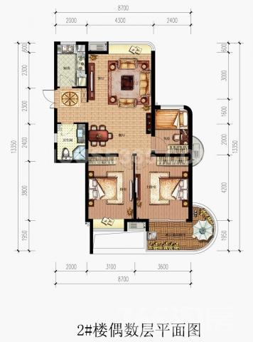 观澜时代 豪华装修 双卧朝南 拎包入住 赠送走廊露台 双阳台