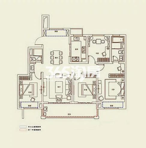 A5户型, 4室2厅2卫1厨