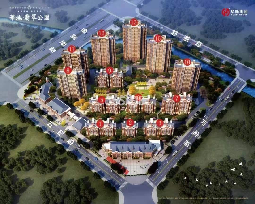 华地翡翠公园鸟瞰图
