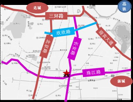 珍宝岛熙悦府交通图