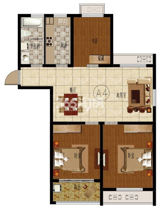 寺头家园111.03平A4户型图