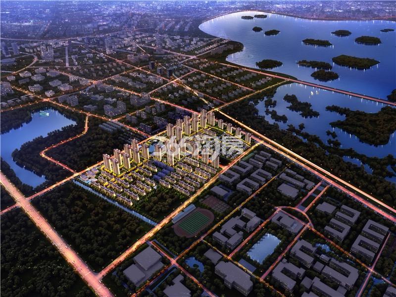 大华潘安湖首府鸟瞰图