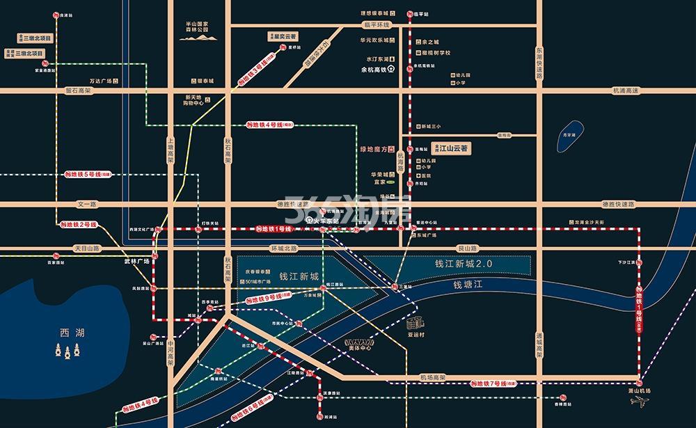 金辉江山云著交通图
