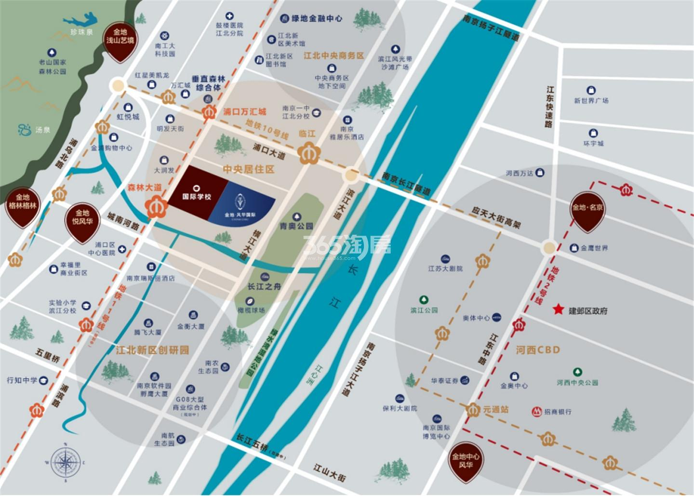 风华国际交通图