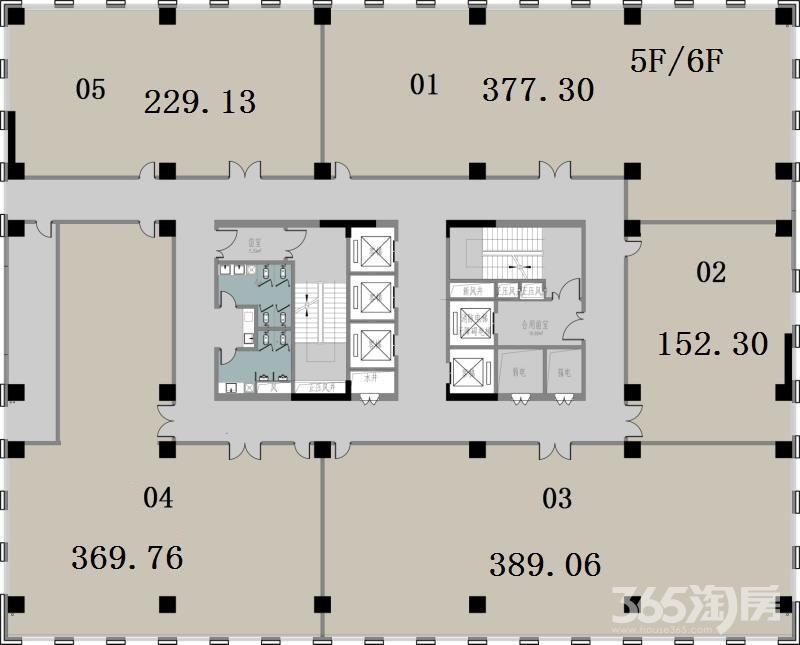 浦口区江浦街道中科创新广场0室0厅户型图