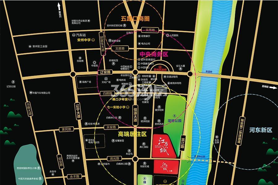 宜家美江与城交通图