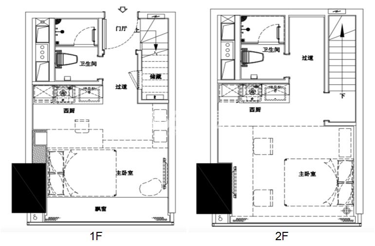 杭州富力中心酒店式公寓40方户型图