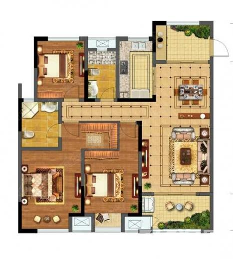 碧桂园仙林东郡3室2厅2卫128平米整租精装