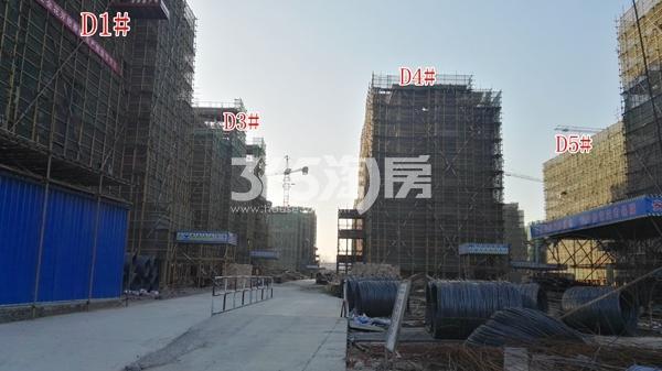 恒泰山水文园工地D1\D3\D4\D5#楼工程进度实景图(12.25)