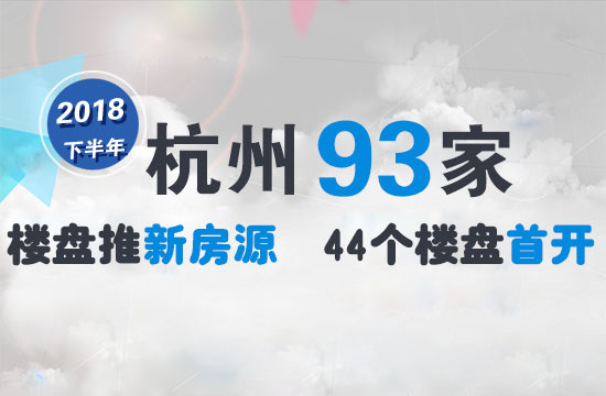 2018下半年杭州新房上市量!摇号买房就看这93盘了
