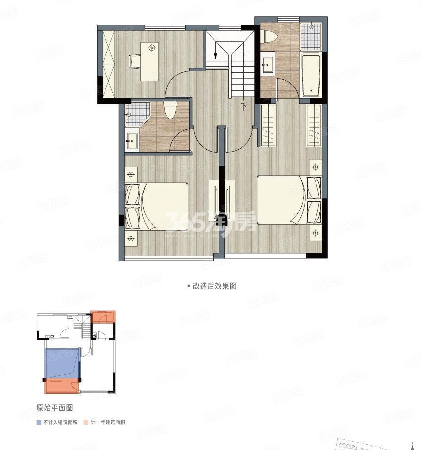 雅居乐新乐府170㎡E户型(二楼)
