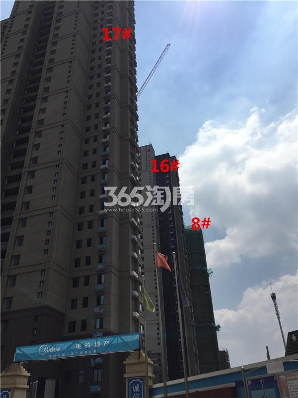 美的乐城西楼栋实景图(8.28)