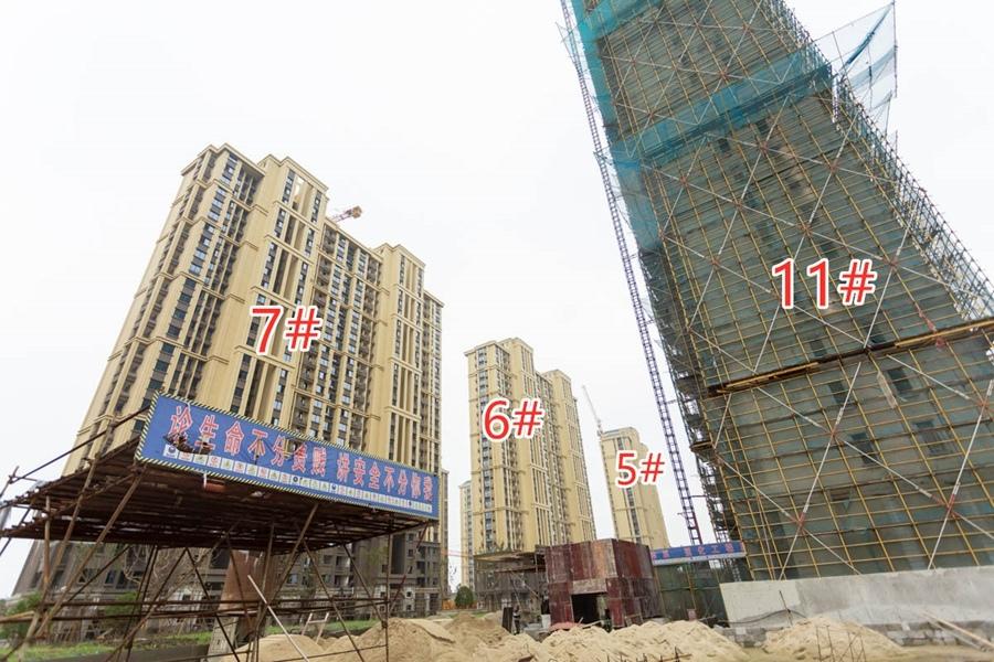 信德悦城5#6#7#11#楼工程进度(2019.9摄)
