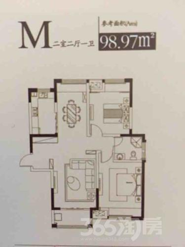 春天里2室2厅1卫100平米毛坯产权房2018年建
