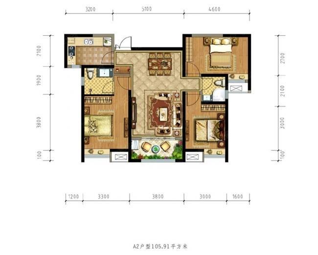 土门商圈德杰状元府邸3室2厅2卫120平公积金贷款30%