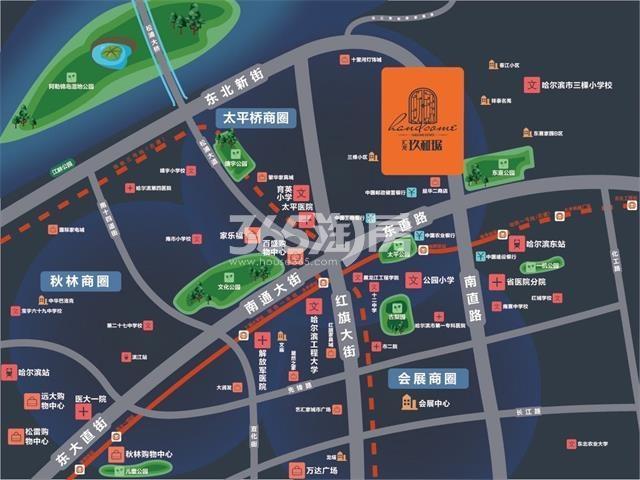 汇龙·玖和琚交通图