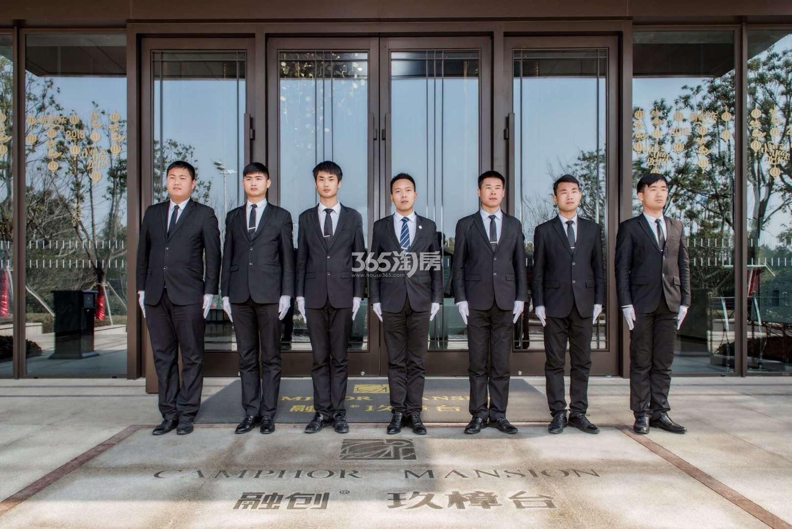 融创玖樟台售楼部正门实景图(2018.2.23)