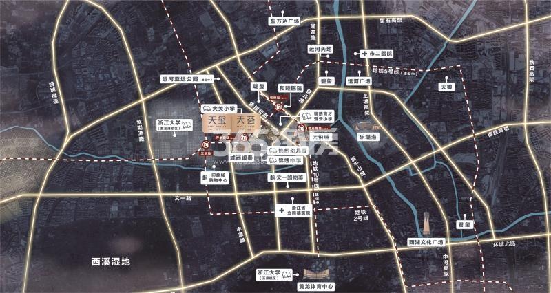 九龙仓天玺交通图