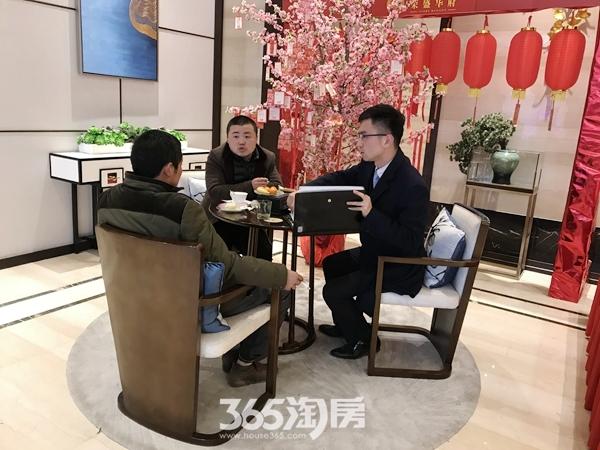 荣盛华府新春看房图(2018.2摄)