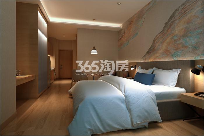 绿地香树花城柔和SOHO样板间卧室