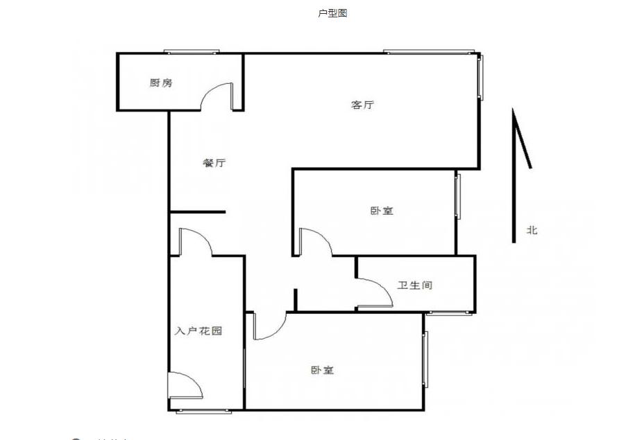 栖霞区仙林汇杰文庭1室1厅户型图
