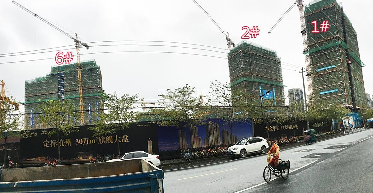 2017年12月底首开杭州金茂府高层1、2、6号楼全景