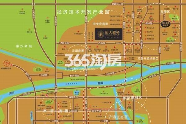 西安恒大雅苑交通图