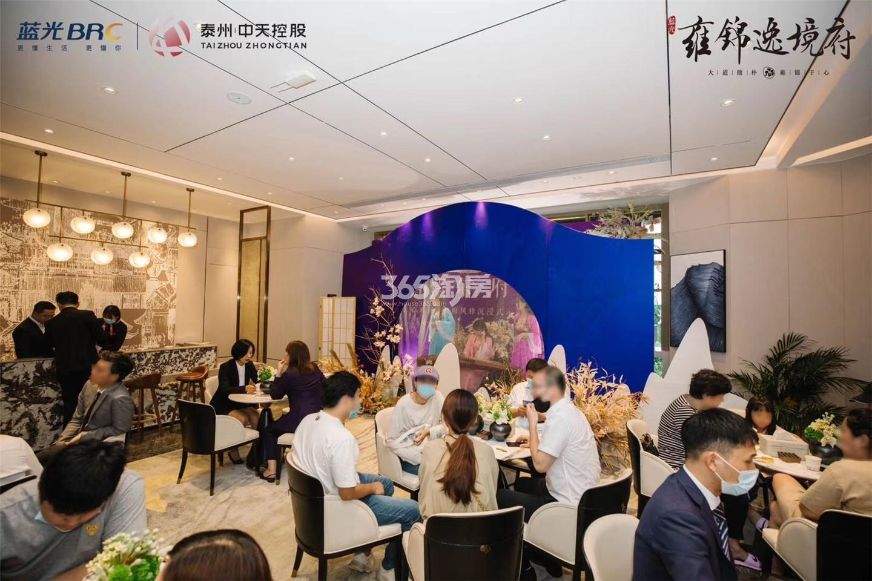 蓝光雍锦逸境府售楼处公开实景图(7.18)