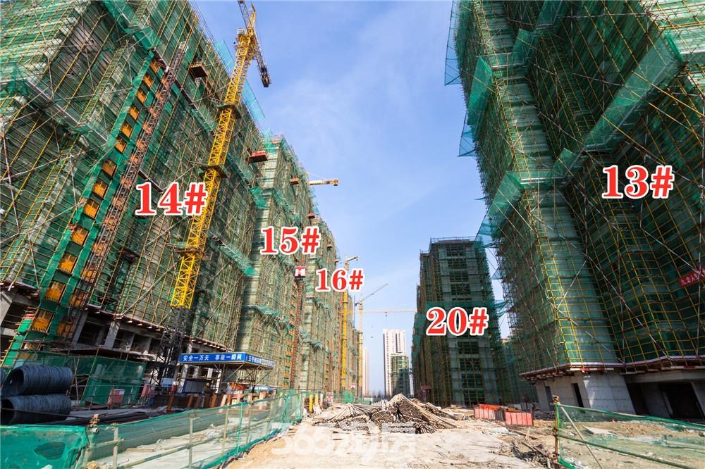 华强江山府13#、14#、15#、16#、20#工程进度实拍(2020.3月摄)