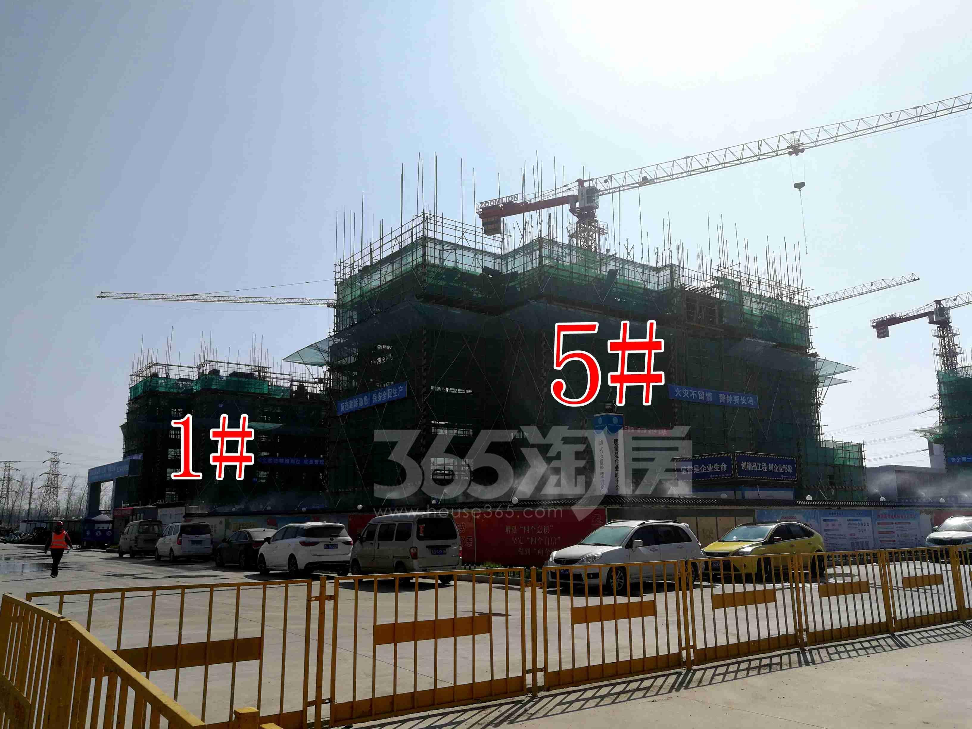华润置地公元九里1、5#工地实景图(3.26)