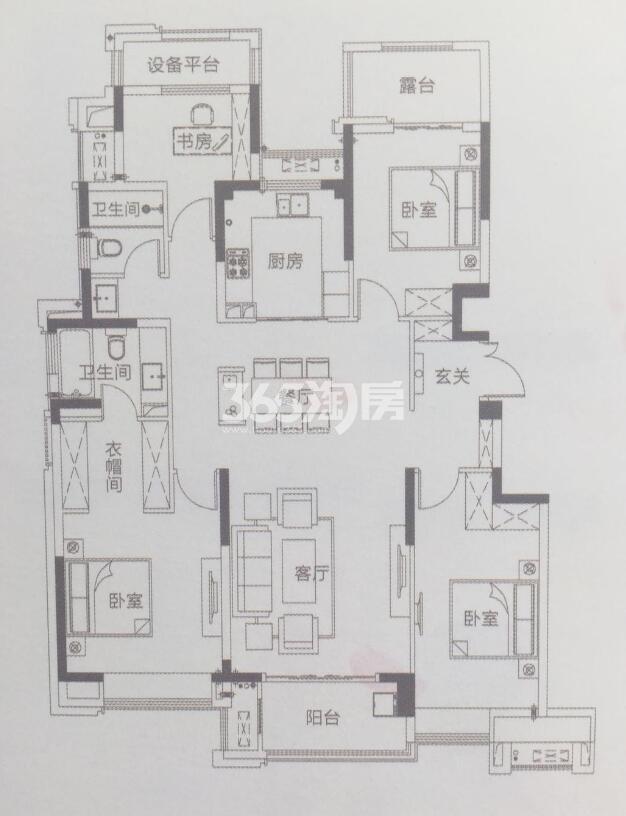 c-2 4室2厅2卫 142㎡