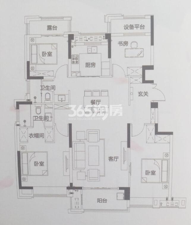 c-4   4室2厅2卫   127㎡