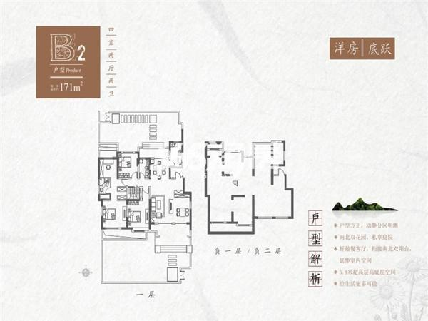 红星紫御半山B2洋房底跃4室2厅2卫1厨171㎡