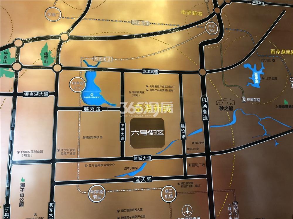 中骏六号街区售楼处区位图(4.11)